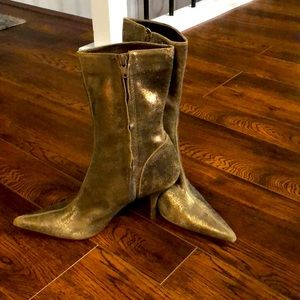 Steve Madden Party Boots Shimmering Gold